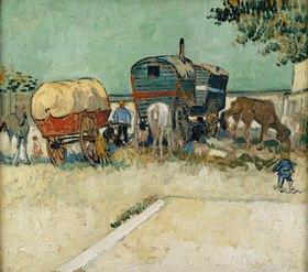 Vincent van Gogh: Die Wohnwagen, Zigeunerlager (Les Roulottes/Campement de Bohémiens)