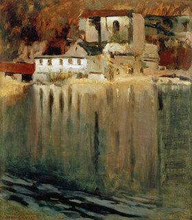 Eugen Bracht: Gypsmühle am Teich