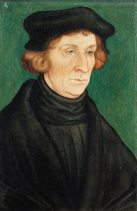 Lucas Cranach d.Ä.: Bildnis eines Gelehrten (Otto Brunfels ?)