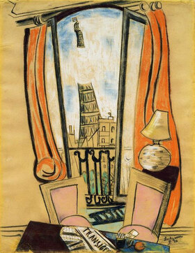 Max Beckmann: Ausblick aus dem Fenster (Eiffelturm)