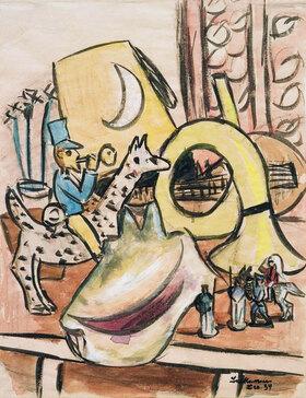 Max Beckmann: Stilleben mit Spielzeug und Muschel