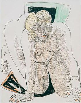 Max Beckmann: Kriechende Frau