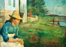Edvard Munch: Abendstunde. Laura, die Schwester des Künstlers