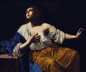 Artemisia Gentileschi: Maria Magdalena in Buße