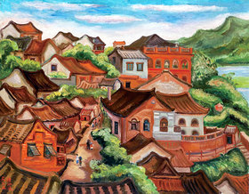 Tan Ting-pho: View of a city, Taiwan