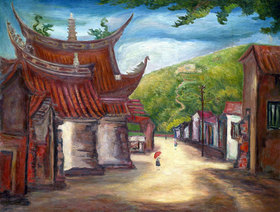 Tan Ting-pho: Tempel, Taiwan