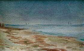 Max Beckmann: Meeresstrand, braun und grau