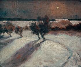 Max Beckmann: Schneelandschaft im Mondlicht