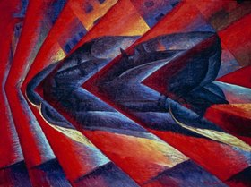 Luigi Russolo: Russolo, Luigi 1885?1947.?Automobile in corsa? (Car being driven)1913.Painting.Paris, Musée National d?Art Moderne