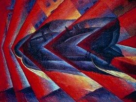 Luigi Russolo: Russolo, Luigi 1885?1947.?Automobile in corsa? (Car being driven)1913.Painting.Paris, Musée National d?Art Moderne