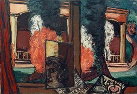 Max Beckmann: Blick aus dem Fenster in Baden-Baden