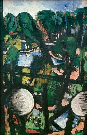 Max Beckmann: Blick auf den Tiergarten mit weißen Kugeln (Parkbild)