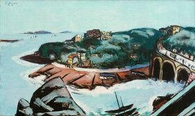 Max Beckmann: Blick auf Vorstädte am Meer bei Marseille