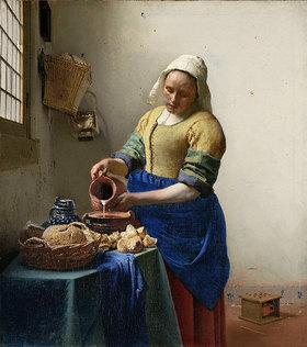 Jan Vermeer van Delft: Dienstmagd mit Milchkrug