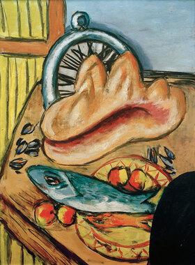Max Beckmann: Stillleben mit Fisch und Muschel