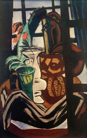 Max Beckmann: Atelier mit Tisch und Gläsern