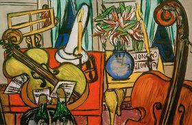 Max Beckmann: Stilleben mit Cello und Bassgeige