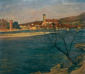 Arthur Grimm: Rhein bei Säckingen