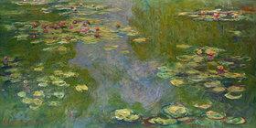 Claude Monet: Claude Monet, 1840?1926.Seerosen, Gemälde, 1919.Öl auf Leinwand, 101 × 200 cm.Inv. Nr. 1998.325.2New York, Metropolitan Museum of Art