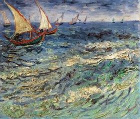 Vincent van Gogh: Fischerboote auf dem Meer bei Saintes-Maries