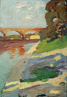 Wassily Kandinsky: Die Isar bei Großhesselohe
