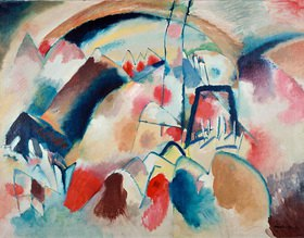 Wassily Kandinsky: Landschaft mit Kirche