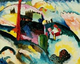 Wassily Kandinsky: Landschaft mit Fabrikschornstein