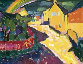 Wassily Kandinsky: Murnau mit Regenbogen