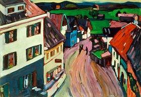 Wassily Kandinsky: Blick aus dem Fenster des Griesbräu (Murnau)