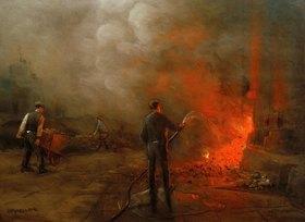 Herman Heijenbrock: Arbeiter, die Koks löschen