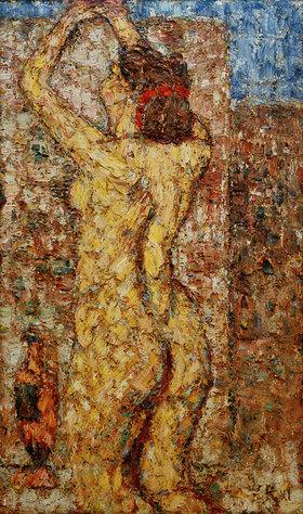 Christian Rohlfs: Akt mit griechischer Vase (Weiblicher Rückenakt mit Amphora