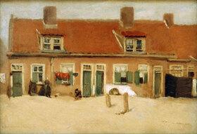 Max Liebermann: Alte Häuser in Scheveningen