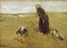 Max Liebermann: Alte Frau mit Ziegen
