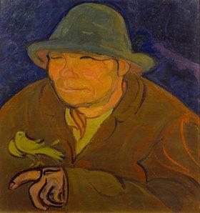 Gino Rossi: Mann mit Kanarienvogel
