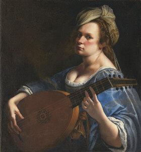 Artemisia Gentileschi: Selbstportrait als Lautenspielerin