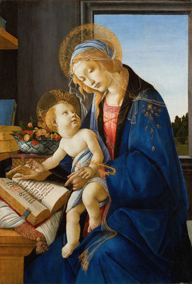 Sandro Botticelli: Madonna of the Book (Madonna del Libro)