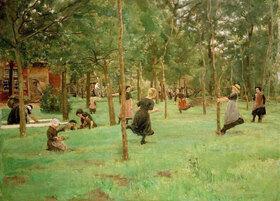Max Liebermann: Spielende Kinder