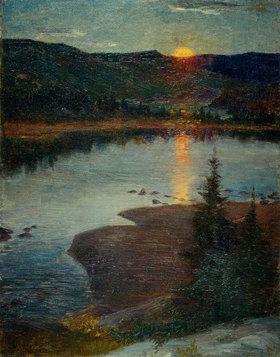 Prinz von Schweden Eugen: Mondaufgang in Valdres