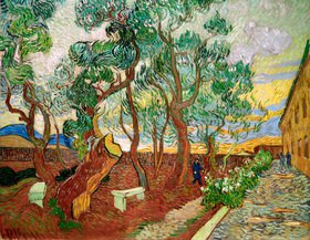 Vincent van Gogh: Der Garten des Saint Paul-Krankenhaus, 1889.