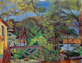 Pierre Bonnard: The terrace in Vernon