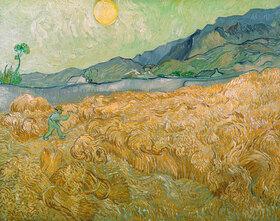 Vincent van Gogh: Wheatfield with Reaper, Setting Sun, Saint-Rémy-de-Provence