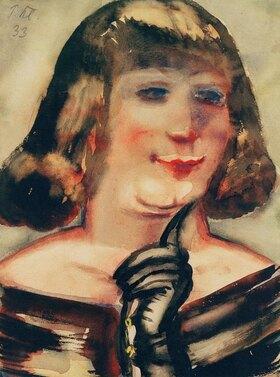 Paul Kleinschmidt: Portrait of a lady with black glove