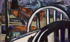 Max Beckmann: Schiffswerft. Eiserne Brücke