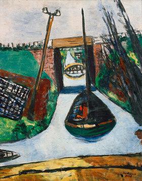 Max Beckmann: Am Damm (Holland). Kanal in Holland