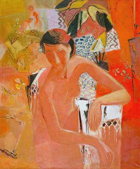 Oskar Moll: Bather with fringed shawl
