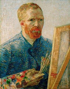 Vincent van Gogh: Self-portrait with easel