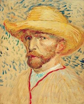 Vincent van Gogh: Selbstporträt mit Strohhut und Malerkittel