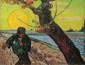 Vincent van Gogh: Le Semeur (the sower), Arles