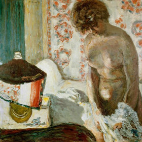 Pierre Bonnard: Frauenakt bei Lampenschein