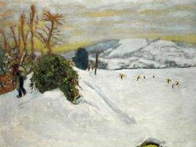 Pierre Bonnard: Snowy Landscape in DauphinŽ